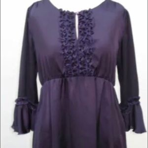 Tops - Lavender Ruffle sleeve and Ruffle bodice blouse.